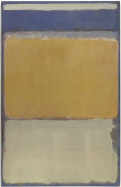 No. 10, 1950 by Mark Rothko  ( I see: tin purple or cloudy blue, Winoker yellow, caramel on white stoneware)