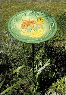Backyard Birds | Cottage Garden Decor Beautiful handcrafted ceramic birdbath. Just what the birds in your yard are asking for!