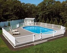 above ground pool deck ideas on the internet and home magazines