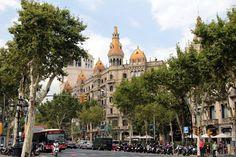 Corner of Plaça de Catalunya with Passeig de Gràcia, Barcelona