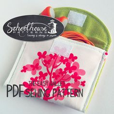 This listing is for a PDF sewing pattern. I do not sell finished products. All sales final.  This listing is for a PDF sewing pattern for the Easy Wallet. The smaller wallet is perfect for holding a pair of earbuds, keeping them tangle-free and clean when tossed into a purse or backpack. There are 2 patterns for the iPhone/iPod touch, one for the 4th generation and one for the 5th generation. The largest wallet is for your purse. It is the size of the dollar bill and fits the iPhone 6 plus…