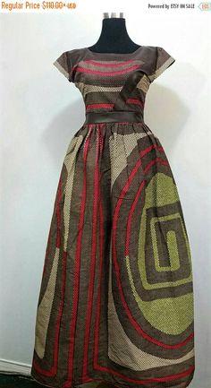 SUR vente Afrique imprimer robe maxi avec par JENNYROSSYCLOTHING                                                                                                                                                     Plus