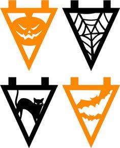 View Design #33112: assorted halloween banner bunting