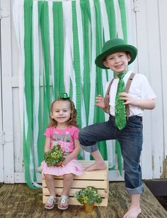 St. Patrick's Day Photoshoot by Danielle. Kid photography. Outdoor Photography…