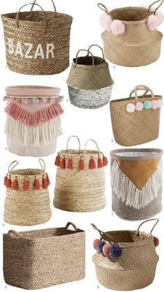 Rope Crafts, Diy Home Crafts, Diy Crafts To Sell, Diy Home Decor, Blog Deco, Boho Diy, Basket Weaving, Handicraft, Diy Bedroom Decor
