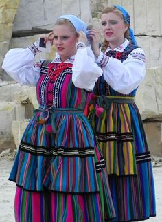 Opoczno folk costumes from Poland