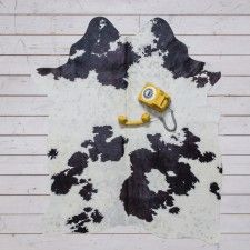 Small Black and White Cowhide