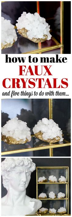 How to Make Crystals | How to Make Geodes | DIY Faux Crystals | DIY Faux Gemstones | DIY Faux Geode | DIY Faux Gems | DIY Crystals | DIY Geode via @rainonatinroof