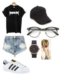 """Justin bieber concert outfit"" by camerondab on Polyvore featuring Justin Bieber, One Teaspoon, adidas, rag & bone and Marc Jacobs"