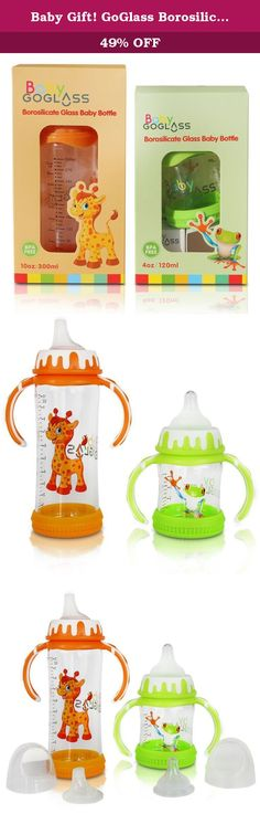 Baby Gift! GoGlass Borosilicate Glass Baby Bottle Set With Sippy Cup Spout - 4 oz (green) and 10 oz (orange) - BPA Free - Best Feeding For Preemie, Newborns, Infants, and Toddlers, Amazon Registry. It's all about Jack... My wife and I decided to use glass, after investigating numerous reports on how harmful chemicals leach into your drinks with plastic bottles and containers. Even BPA free plastics, which quickly became popular, were replaced with other chemicals that were just as…