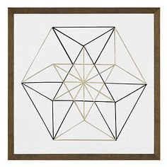 Black and Gold Geo 6 | Framed Art | Art by Type | Art | Z Gallerie