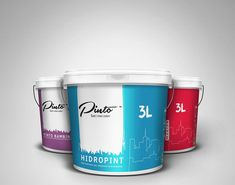 Bucket Designs for Pinto Color Company on Behance