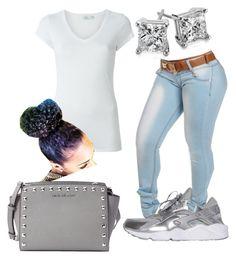 """""""#358"""" by o0dejah0o on Polyvore featuring NIKE, Vince, MICHAEL Michael Kors and Blue Nile"""
