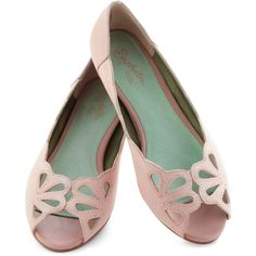 Seychelles Know What I Mean Flat in Pink ($90) ❤ liked on Polyvore