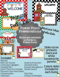 Save time! Power Point Presentations in many themes for Parent Night, Parent Orientations, Back to School Night, #backtoschool, #classroom, $