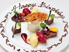 Cucchiaino Ristorante Birthday Plate, Unique Desserts, Plated Desserts, Food Plating, Fine Dining, Bon Appetit, Food Art, Food Inspiration, Food To Make