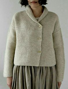 Theone - LisetteTops - Envelope is a unique online shopping mall made up of a few independent shops from all around Japan. Cardigan Pattern, Knit Cardigan, Jumper, Tunisian Crochet, Knit Crochet, Online Shopping Mall, Knit Fashion, Knit Jacket, Mode Inspiration