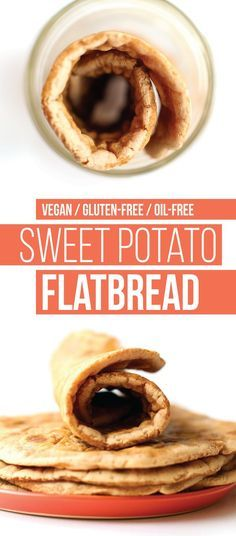 Gluten-Free Sweet Potato Flatbread A subtly sweet, soft, cinnamon-laced flatbread made with sweet potato!A subtly sweet, soft, cinnamon-laced flatbread made with sweet potato! Gluten Free Baking, Vegan Gluten Free, Gluten Free Recipes, Vegan Recipes, Cooking Recipes, Gluten Free Flatbread, Gluten Free Wraps, Lactose Free, Bread Recipes