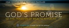 God's Promise Of The Transfer Of Wealth Revealed