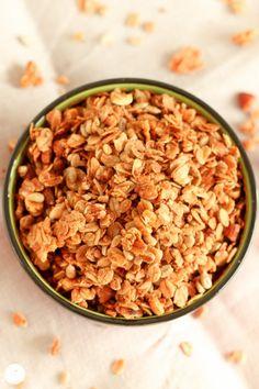 Rezept für Knusper Basis Mandel Müsli / recipe for crunchy almond granola