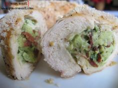 avocado and bacon stuffed chicken  Made this tonight.   Delicious.   I used regular bacon and extra lemon.