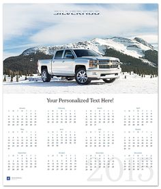 Silverado 2015 Wall Calendar