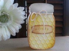 mason jar die, honeycomb embossing folder