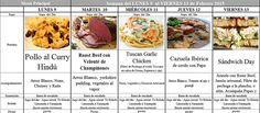 Menú Principal Comedor Escolar del 9 al 13 de Febrero de 2015
