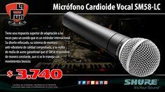 La Púa San Miguel: Micrófono Dinámico Cardioide Vocal SHURE SM58-LC