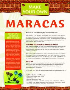 Discover maracas and their roots in Spanish and Hispanic cultures worldwide…