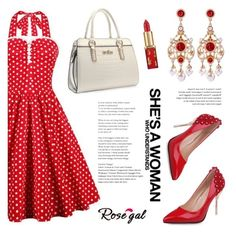 """ROSEGAL"" by helenevlacho ❤ liked on Polyvore featuring vintage and rosegal"