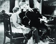 """Eugenie Besserer and Al Jolson in """"The Jazz Singer"""" (1927)"""