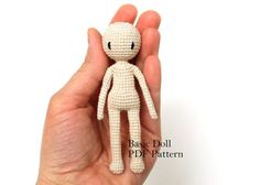 Amigurumi Doll Basic Doll Pattern Crochet by PinkMouseBoutique:
