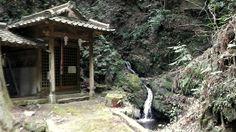 Shrine at Ryuou-no Taki waterfalls.
