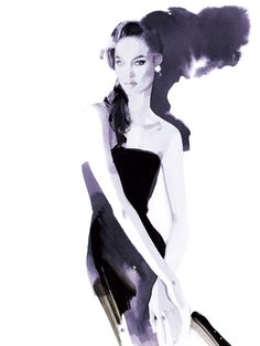 Joan Smalls by David Downton #fashionillustration #artluxedesigns #imfamous