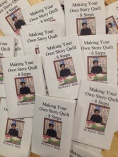 "Making Your Own Story Quilt"" an 8 page mini book from one piece of paper. Kyra E. Hicks, 2016."