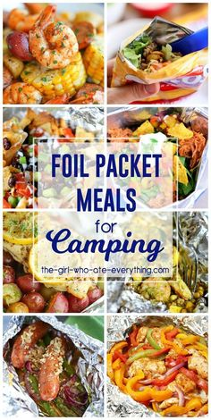 If you're planning a camping trip this summer then you must check out these delicious Foil Packet Meals for Camping! We aren't really campers in our house but I have been camping a bunch of times! My