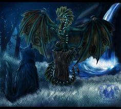 fantasy cats   ... fantasy, fairy, cute, adorable, little, dragon, cat, kitten, forest