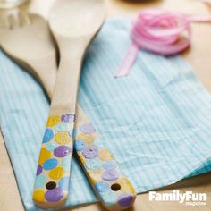 Salad Days: Paint patterns on store-bought spoons for a present that's both useful and sentimental.