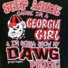 Georgia Bulldawgs!- I know some girls who would love this shirt. :-)