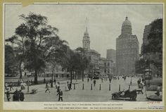 City Hall Park : view taken from Murray Street ; the World Building rear of City Hall. (1910)