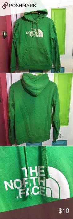 Green north face sweatshirt Great used condition north face sweatshirt. It's a men's small so fit like a women's medium. 80% cotton 20% polyester. North Face Shirts Sweatshirts & Hoodies