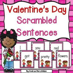 These Valentine's Day Scrambled Sentences are a great addition to your holiday literacy centers. Kindergarten & First Grade students will love unscrambling sentences! Make learning fun with this Valentine's Day activity in your k and grade classroom! Valentines Day Activities, Holiday Activities, Holiday Crafts, Centers First Grade, First Grade Activities, Kindergarten Literacy, Literacy Centers, Preschool Printables, Preschool Activities