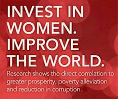 Invest in women. Improve the world.