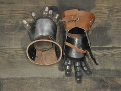 Very popular model of brigandine gauntlets of the century. Plates of normal steel mm are used for the base model. You can choose either titanium or stainless steel in options. Medieval Knight Armor, Sca Armor, Black Leather Belt, Brown Leather, Part Of Hand, Best Armor, Leather Wristbands, European History, 14th Century