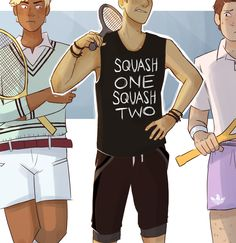Squid with Elbows: Whenever I remember that Ronan takes tennis lessons, my mind immediately jumps to the preppy outfits and I just picture this