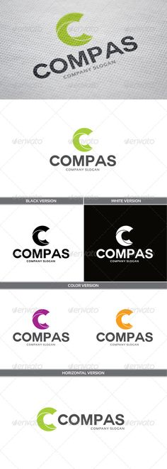 Compas Logo — Vector EPS #orange #cycle • Available here → https://graphicriver.net/item/compas-logo/5833149?ref=pxcr