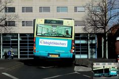 Weight Watchers Bus - Clever bus advertisement promotes weight loss products.