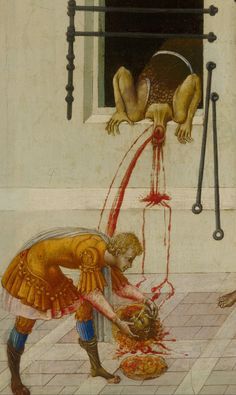 Giovanni di Paolo, Detail of the Beheading of St. john the Baptist, 1455-60