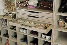 Fabric lined drawers are perfect for jewelry or other valuables